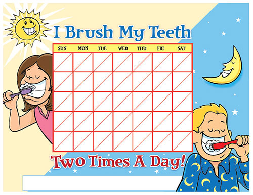 Color Brushing Chart for Children - Pediatric Dentist in Temple, TX